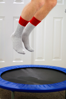 Trampoline as metaphor for bounce rate