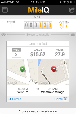 MileIQ Review - Can it Really Track Your Mileage Automatically ...