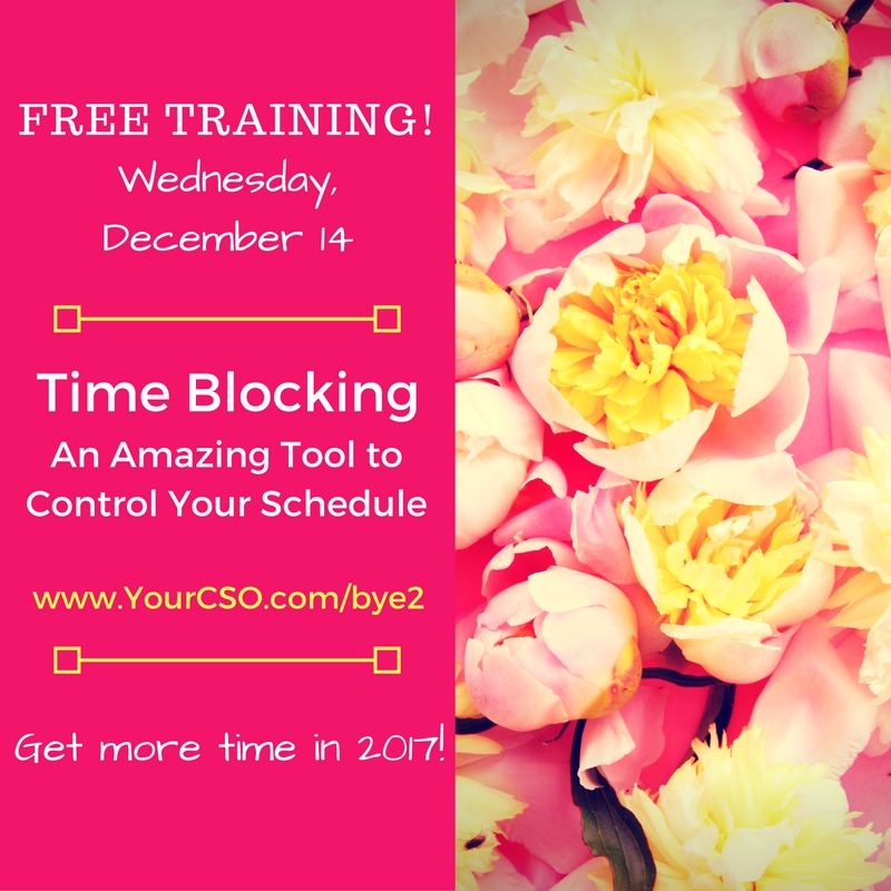 Free Time Blocking Webinar December 14