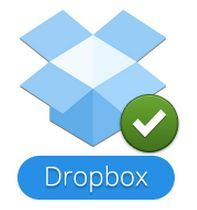 Dropbox logo for Dropbox is full post
