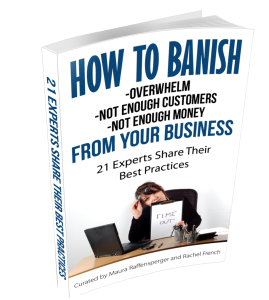 How to Banish Overwhelm, Not Enough Customers, Not Enough Money from your Business book cover
