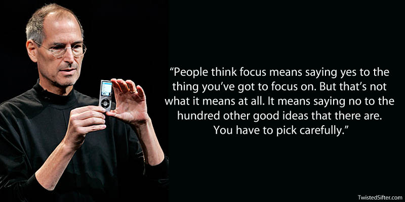 Steve Jobs focus quote